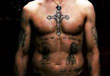 Representación de tatuajes típicos de un 'ladrón de ley'.