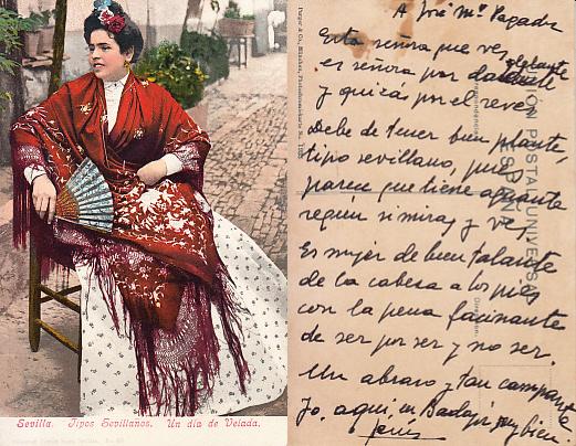 Tarjeta con versos enviada por Jesús Delgado Valhondo al periodista. ARCHIVO J.M.P.