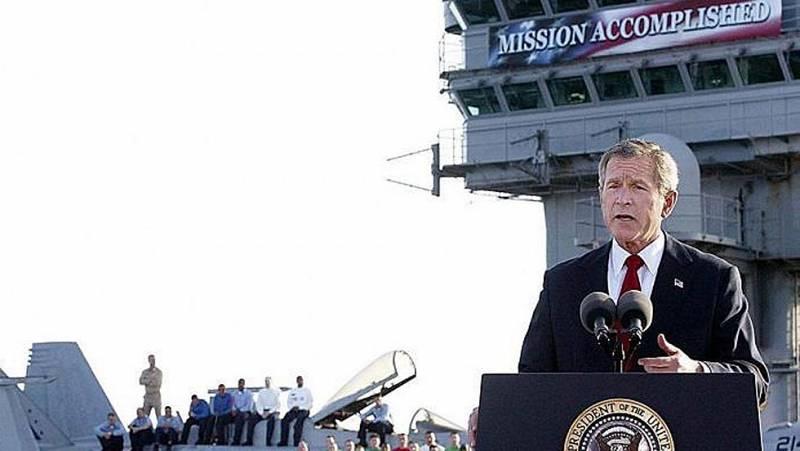 Bush jr, impulsor de una de las guerras más erróneas y catastróficas de la historia. RTVE