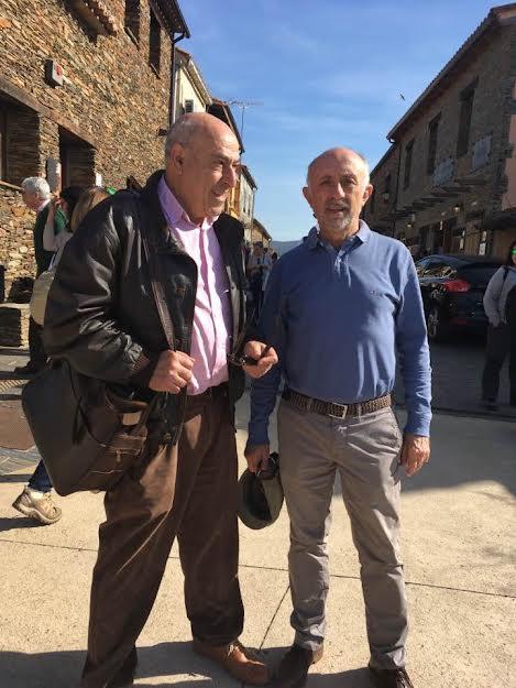 Con Juan Serna, otro pionero del ecologismo.
