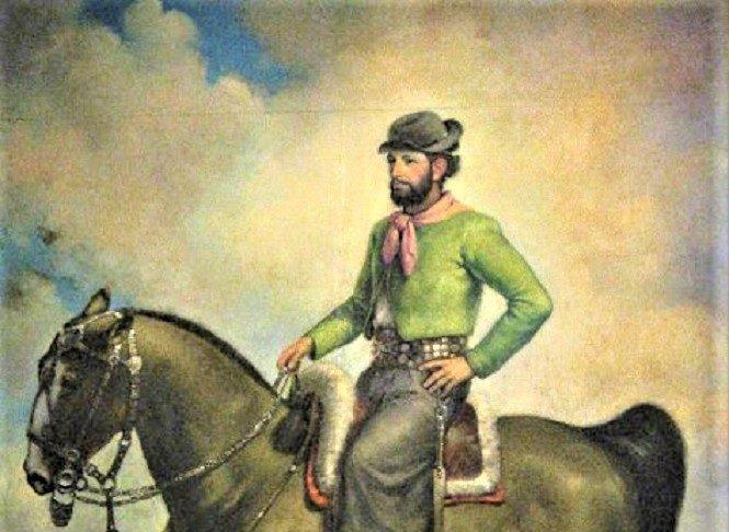 El Viejo Pancho representado como gaucho por el pintor Armando Suárez Couto.
