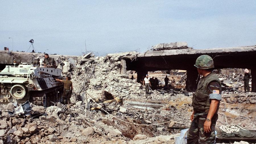 El gran atentado de 1983 contra los marines americanos en Líbano costó 250 muertos.