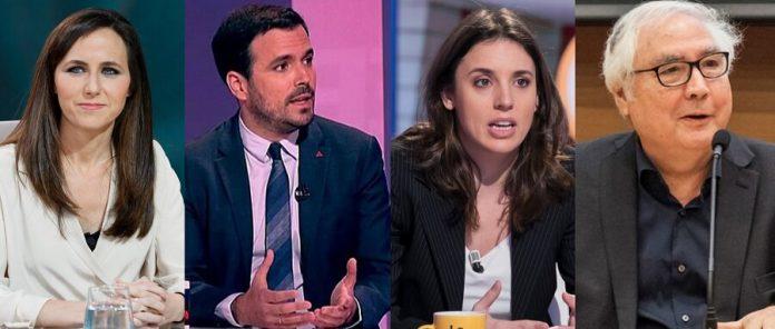 Les ministres podemites Belarra, Garzón, Montero y Castells. RTVE