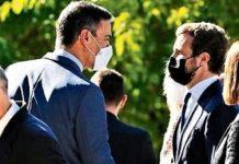 Sánchez y Casado se saludan esta semana, después de mucho tiempo de desencuentros. RTVE
